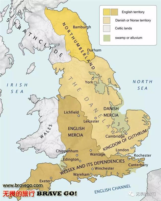 维京人最终在英格兰东部定居下来,在这块区域称为 丹麦区(danelaw)图片